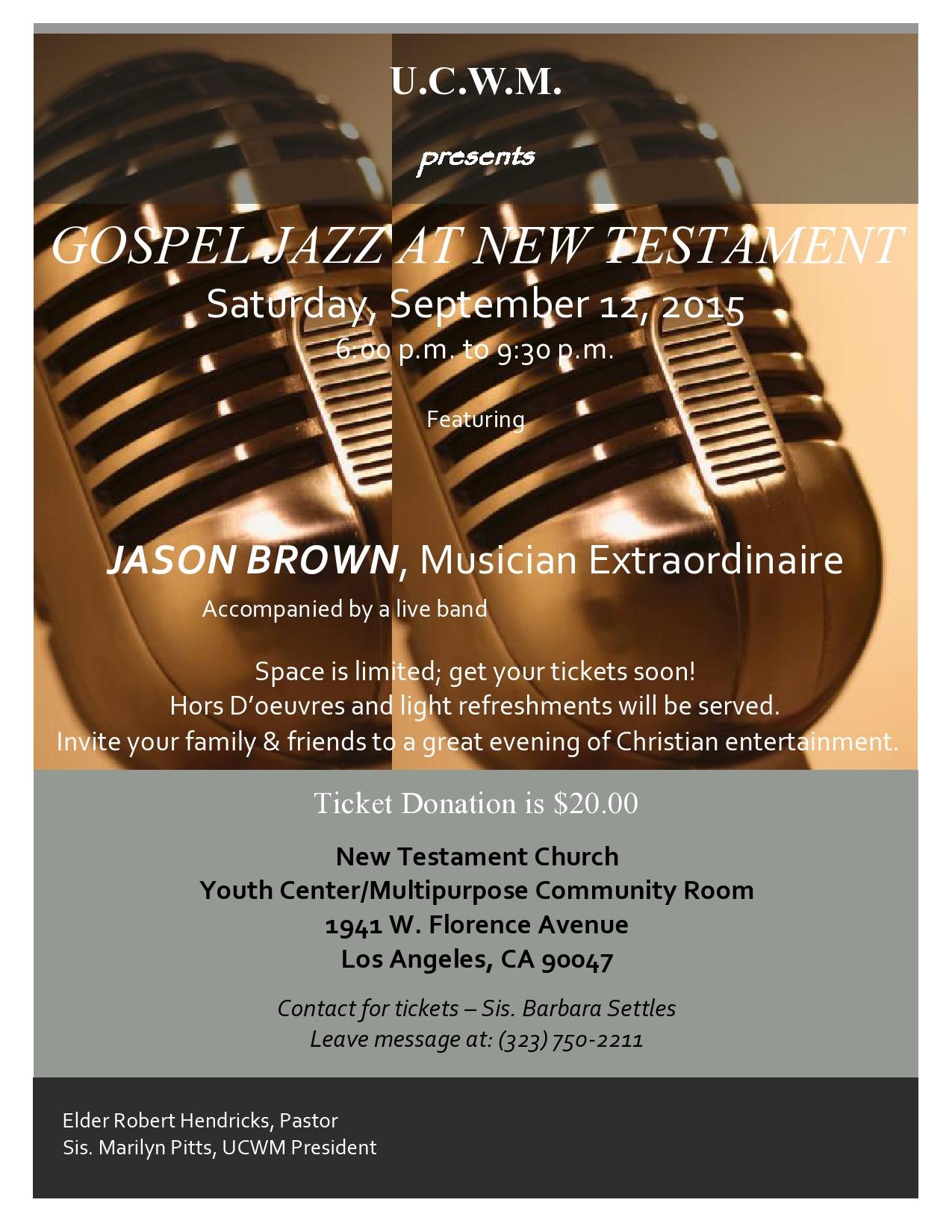 09 12 15 UCWM Jazz Concert